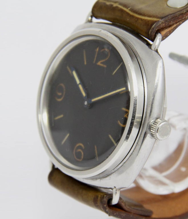 Panerai stainless steel attack diver radiomir wristwatch - Panerai dive watch ...