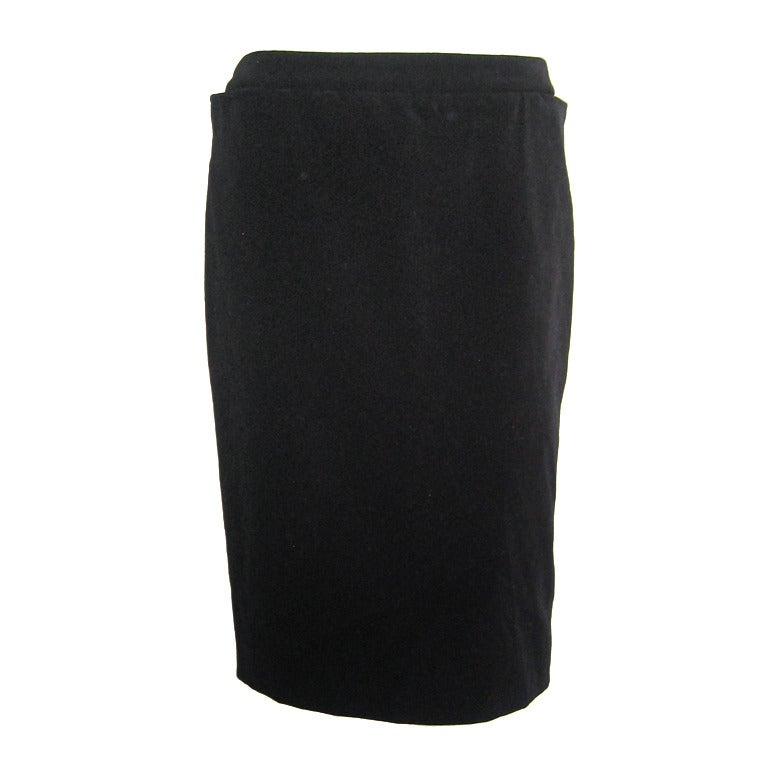 Yves Saint Laurent Black Velvet Skirt