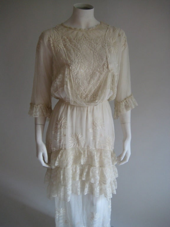 French Edwardian Embroidered Dress 2