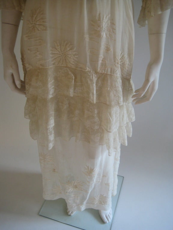 French Edwardian Embroidered Dress 3