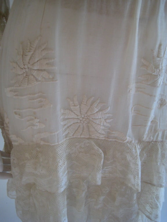 French Edwardian Embroidered Dress 4