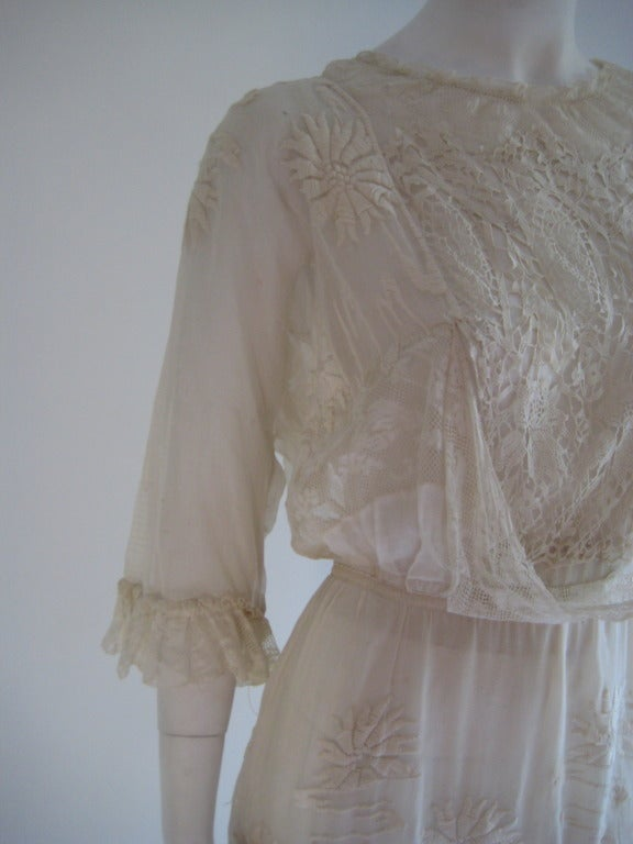 French Edwardian Embroidered Dress 5