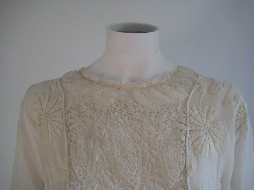 French Edwardian Embroidered Dress 6