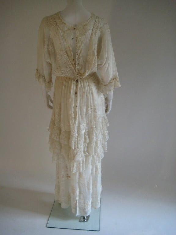 French Edwardian Embroidered Dress 7