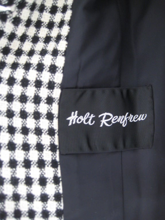1960s Holt Renfrew Coat and Dress Ensamble 5