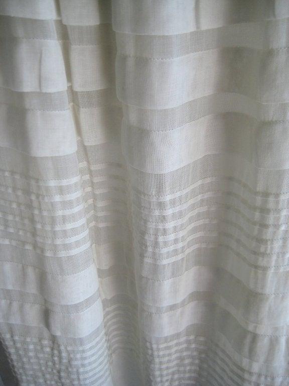 Women's 1920s Silk Linen Dress For Sale