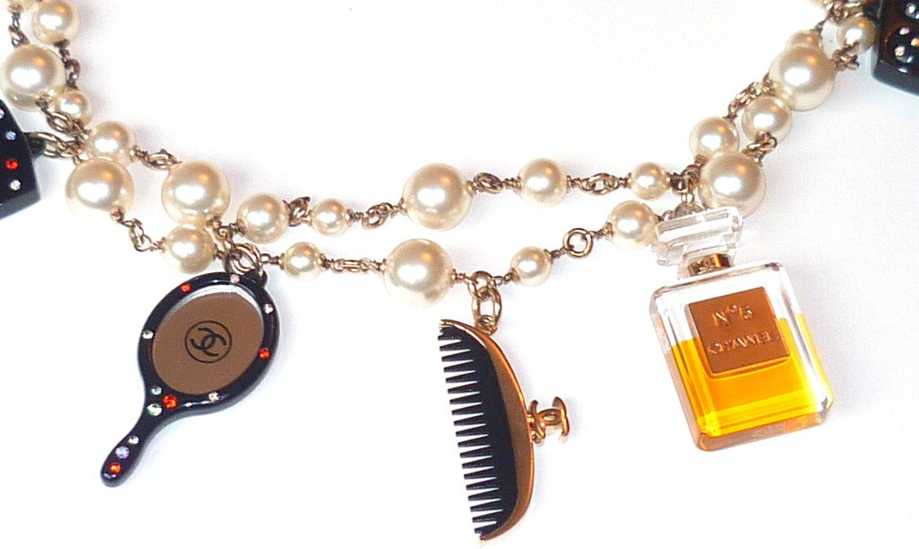 Fall 2004 Chanel Perfume and Cosmetics Charms Sautoir In As new Condition For Sale In New York, NY