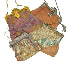 4 Paul Poiret 1920's Purses for Whiting and Davis