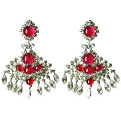 1970 Christian Dior Haute Couture Chandelier Earrings