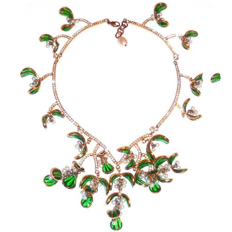 NIna Ricci Défilé Haute Couture Necklace Winter 1986 For Sale