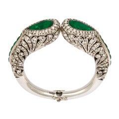 1920s Elegant Art Deco French Paste Bracelet