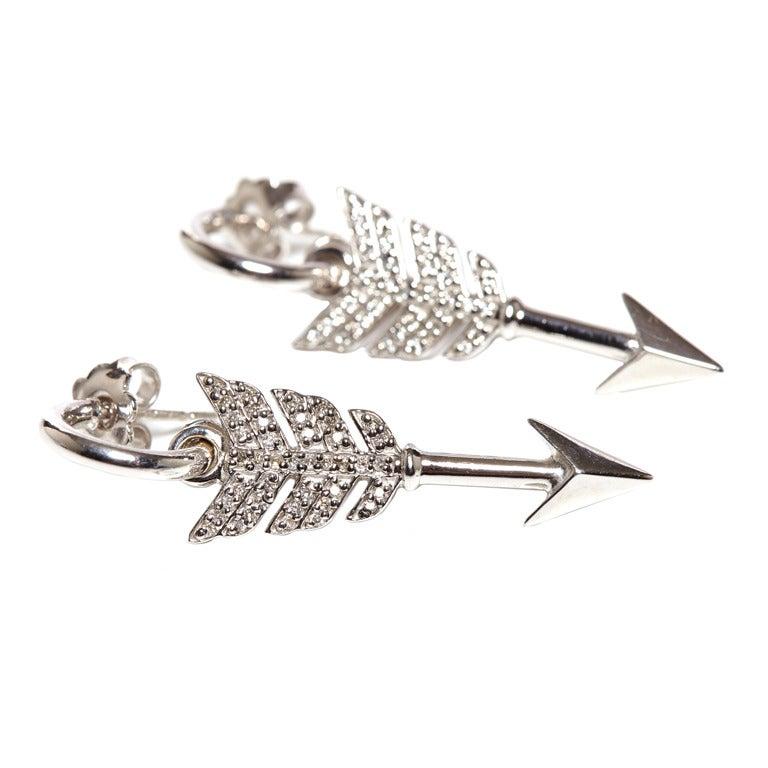 Jade Jagger Diamond Arrow Earrings At 1stdibs