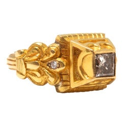 Jade Jagger Diamond and Gold Ring (Size 6)