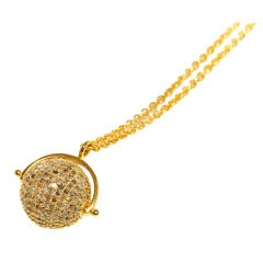 Jade Jagger Diamond Disco Ball Necklace