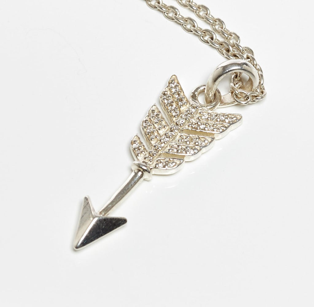 Jade Jagger Diamond Arrow Pendant Necklace with Chain 2