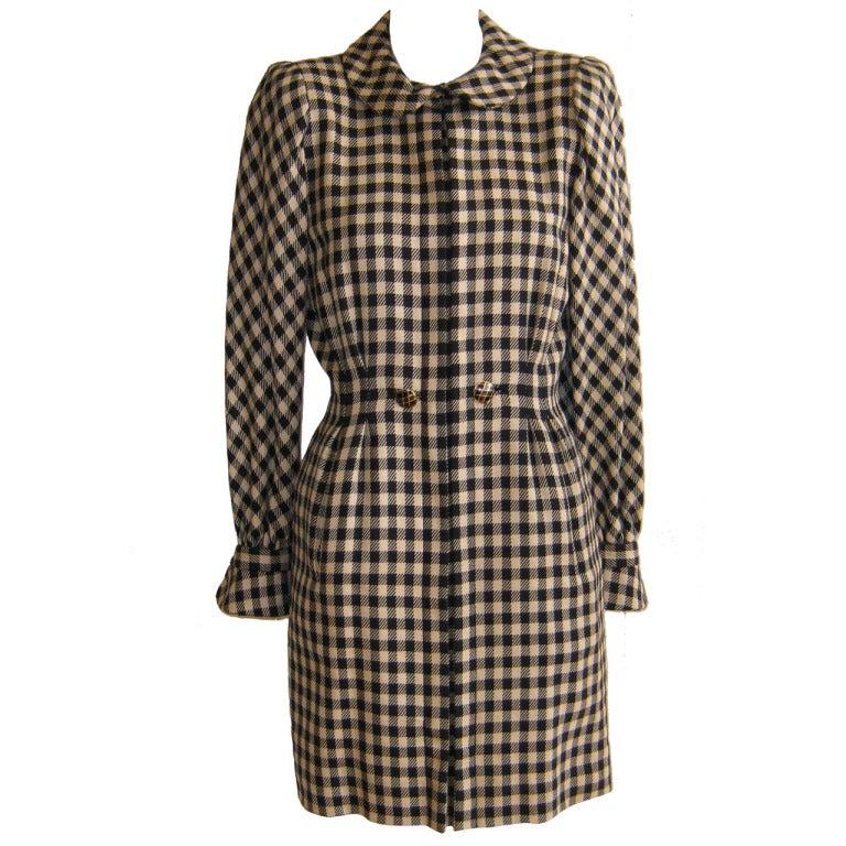 1980s Pauline Triguere wool dress