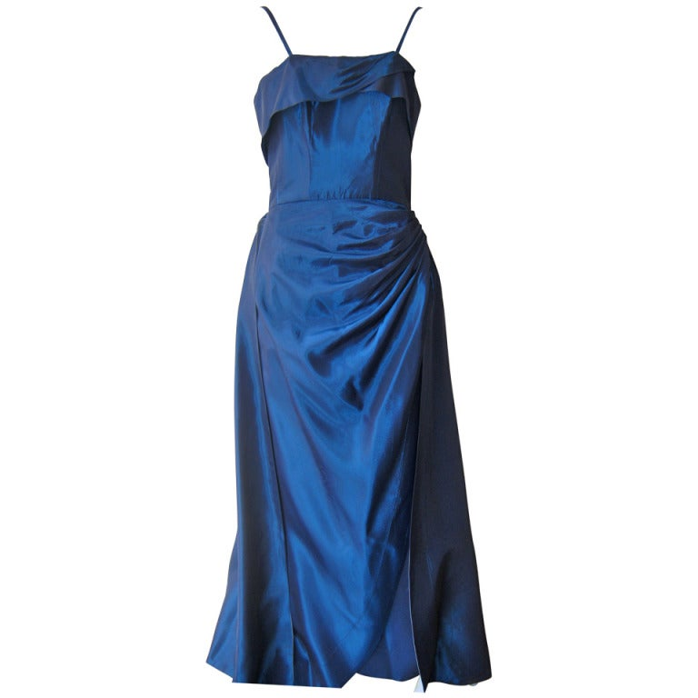 1950s Emma Domb Evening Gown At 1stdibs