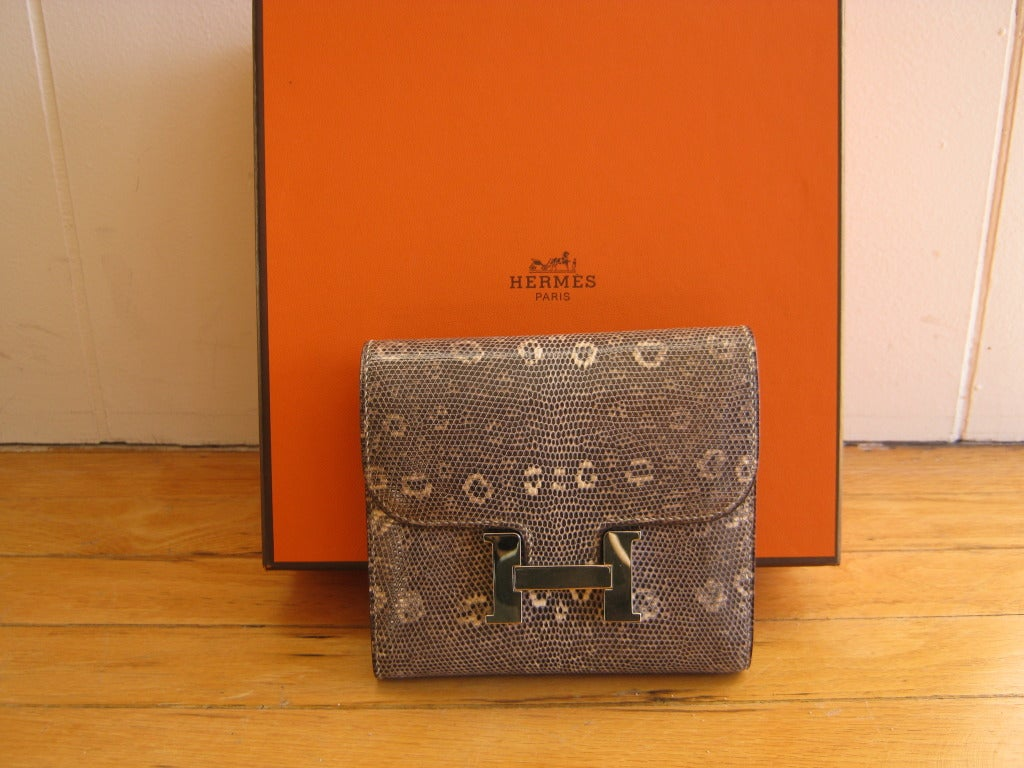 best inexpensive purses - 2009 Hermes Constance Ombre Lizard Wallet at 1stdibs