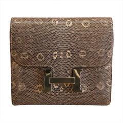 2009 Hermes Constance Ombre Lizard Wallet