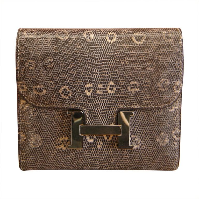 Hermes Lizard Ombre Wallet