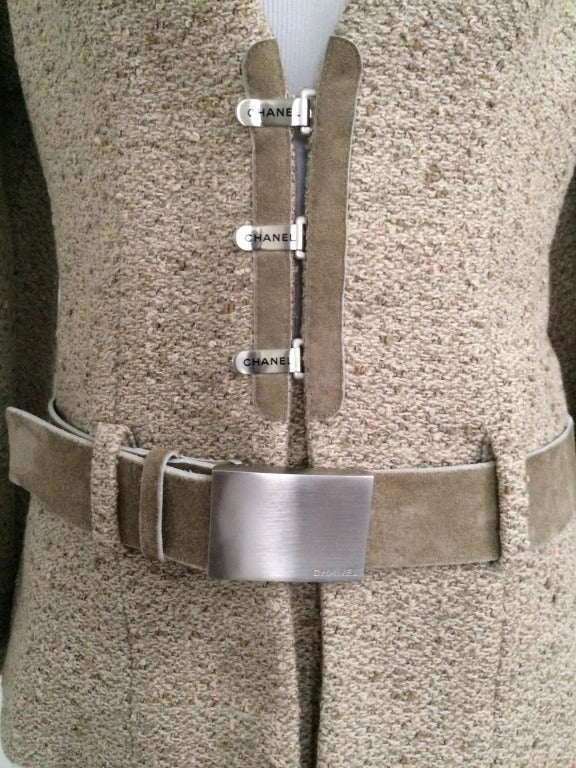 Chanel Belted Skirt Suit in Rich Wheat Camel Tweed 2