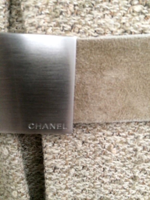 Chanel Belted Skirt Suit in Rich Wheat Camel Tweed 3