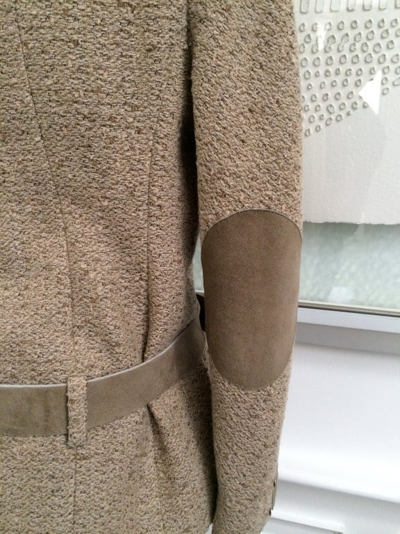 Chanel Belted Skirt Suit in Rich Wheat Camel Tweed 7