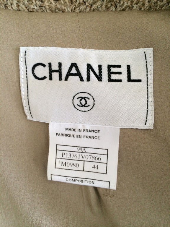 Chanel Belted Skirt Suit in Rich Wheat Camel Tweed 9