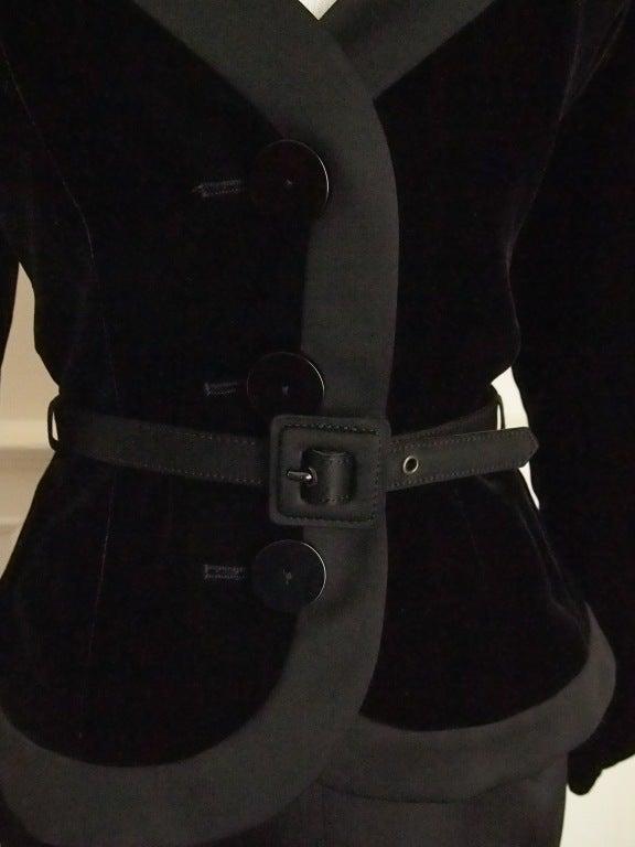 Never Worn 1980s Yves Saint Laurent Blazer and Skirt Suit 3