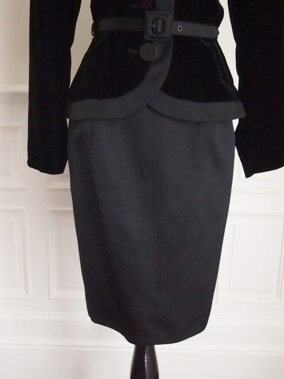 Never Worn 1980s Yves Saint Laurent Blazer and Skirt Suit In New Never_worn Condition For Sale In Port Hope, ON