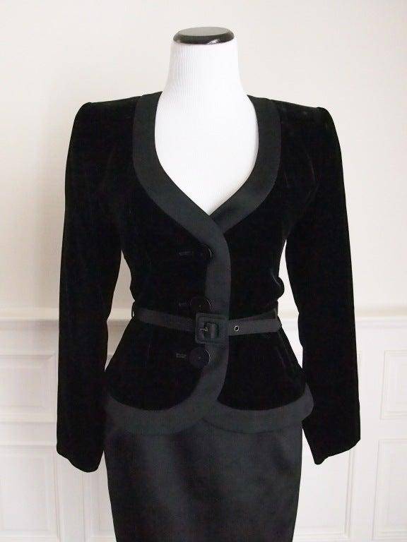 Never Worn 1980s Yves Saint Laurent Blazer and Skirt Suit 5
