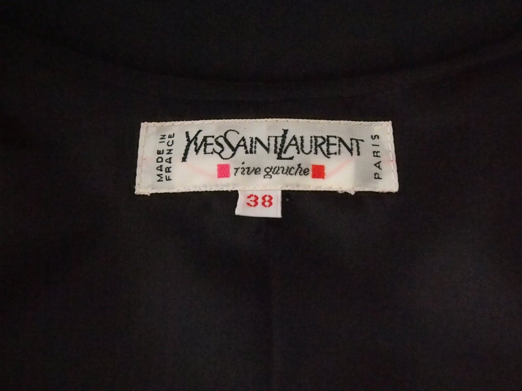 Never Worn 1980s Yves Saint Laurent Blazer and Skirt Suit For Sale 1
