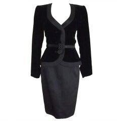 Never Worn 1980s Yves Saint Laurent Blazer and Skirt Suit