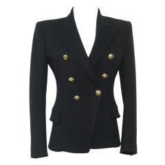 Balmain Navy Schoolboy Jacket