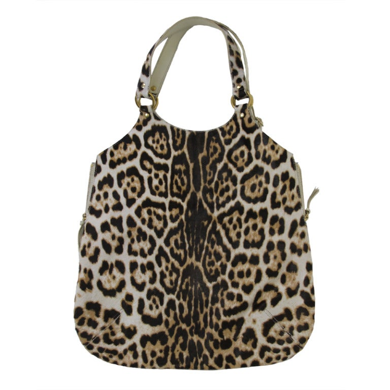 Yves Saint Laurent Tribute Leopard Tote Bag At 1stdibs