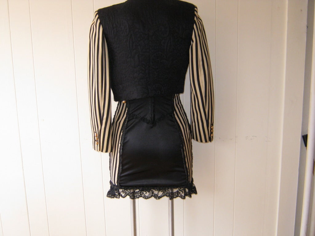 1990s Moschino Couture Corset Dress with Matching Bolero 5