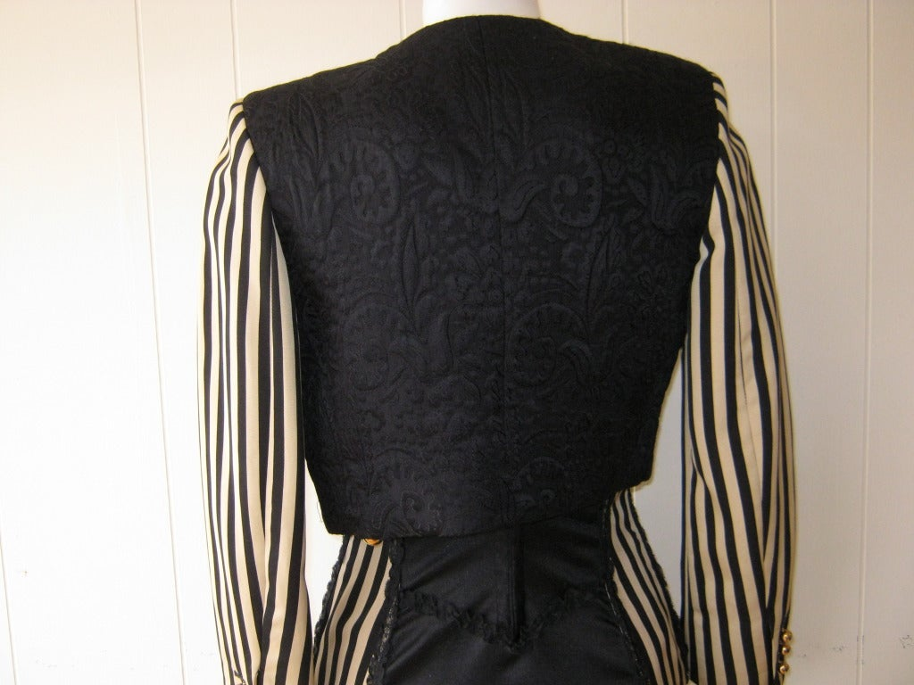 1990s Moschino Couture Corset Dress with Matching Bolero 6