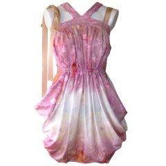 2011 Nina Ricci Spring Collection Silk Dress