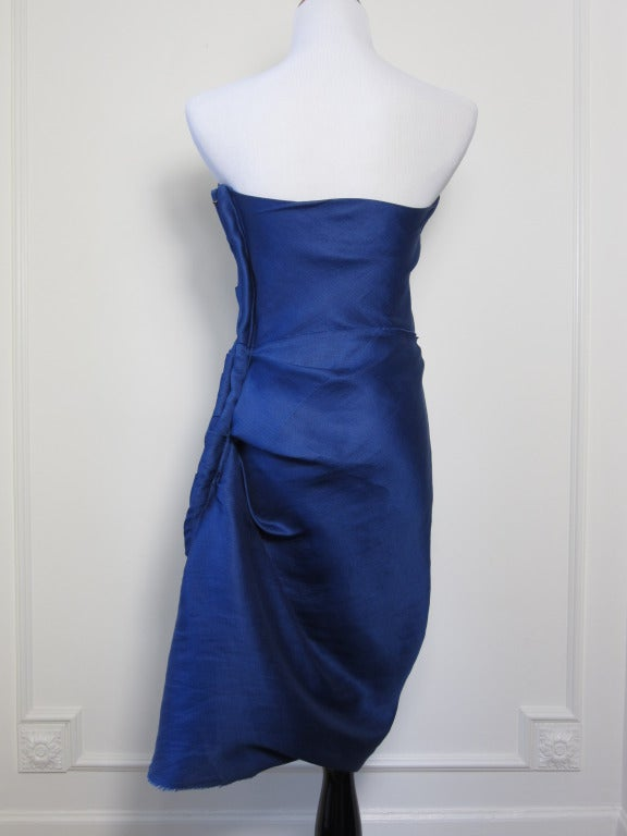 Lanvin strapless cocktail dress image 2