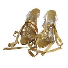 Glamorous evening open toe shoes