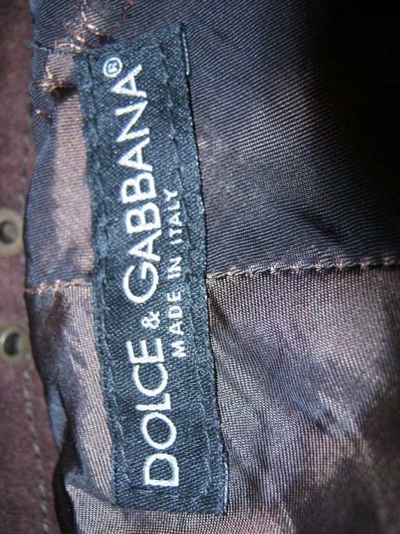 Dolce & Gabbana Suede Striped Pants In Excellent Condition For Sale In Toronto, CA