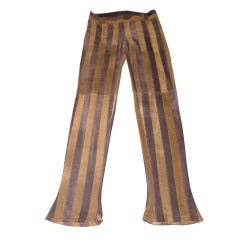 Dolce & Gabbana Suede Striped Pants