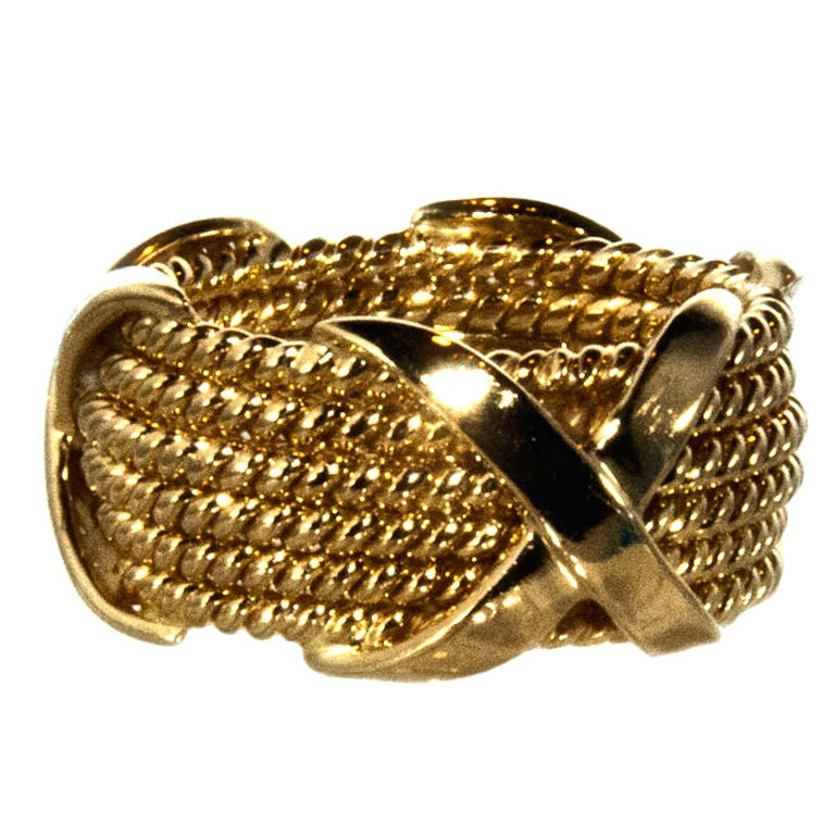 Schlumberger Gold Quot X Quot Band At 1stdibs