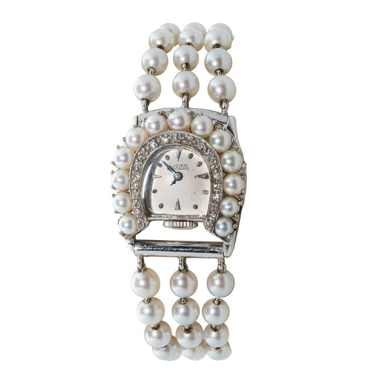 lucien piccard s white gold and pearl