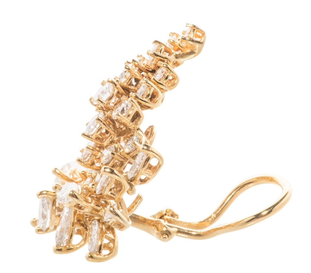 Stunning Diamond Cluster Earrings 2