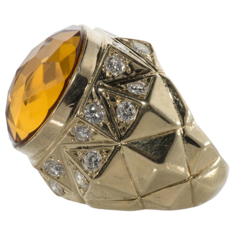 citrine and ring