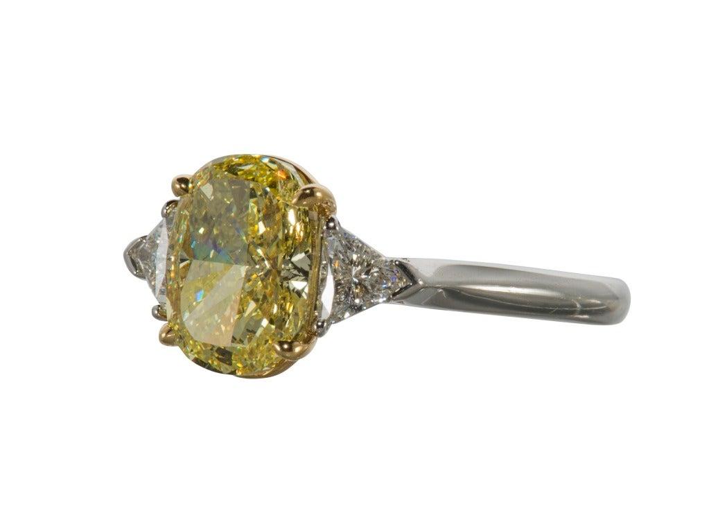 Tiffany & Co. Fancy Intense Yellow Diamond Ring 4