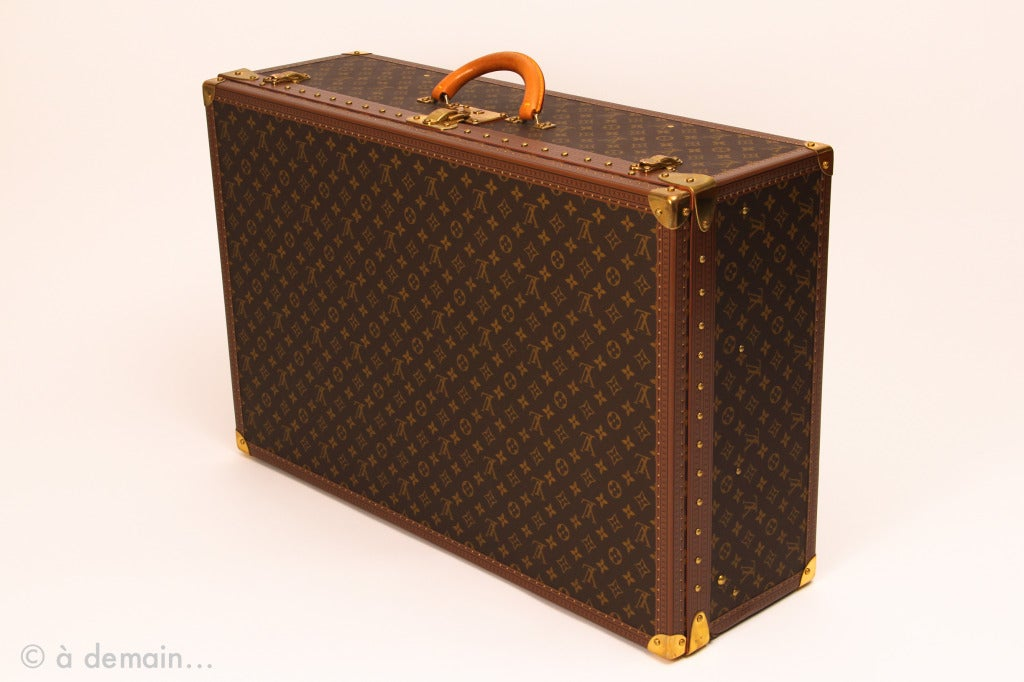 Louis Vuitton large hard suitcase at 1stdibs