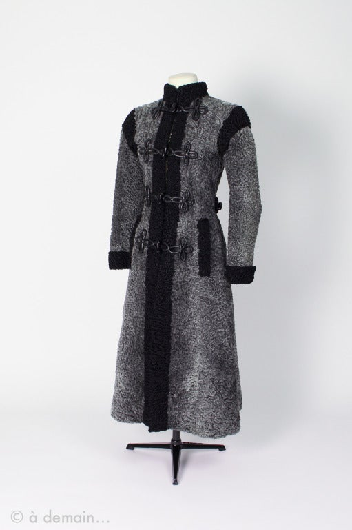 1980s Christian Dior Astrakhan Coat At 1stdibs