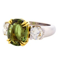 Peter Suchy 5.40 Carat Natural Alexandrite Diamond Platinum Engagement Ring